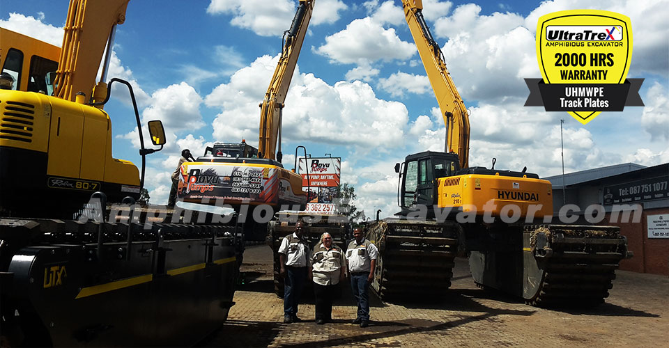 Bovu Pumps: Satisfied with the performance of the UltraTrex Amphibious Excavator Dredging machines