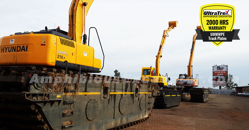 Bovu Pumps: Using Ultratrex amphibious excavator is our ability to work on both deep and shallow dams