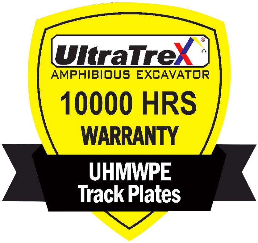 Ultratrex, the only company that assured customers with 10,000 hours of warranty for UHMWPE track plates against cracks.